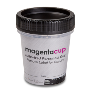 12 Panel CLIA Waived Magenta tapered urine drug test cup