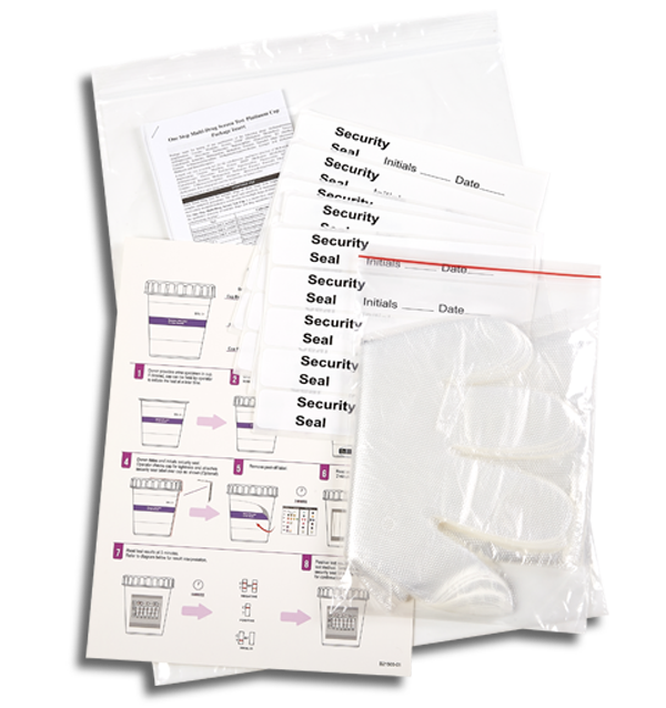 12 Panel CLIA Waived Magenta tapered drug test cup kit