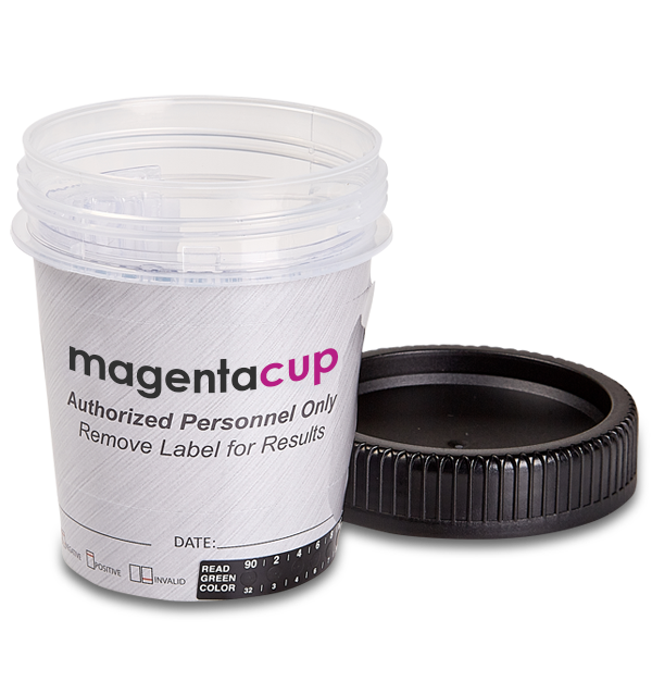 17 Panel drug test tapered cup open