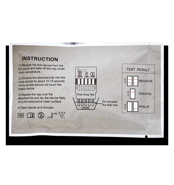 10 Panel Drug Test Dip Card instructions