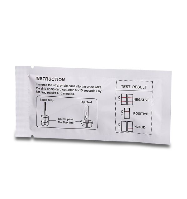 Nicotine Cotinine Drug Test Dip Card instructions