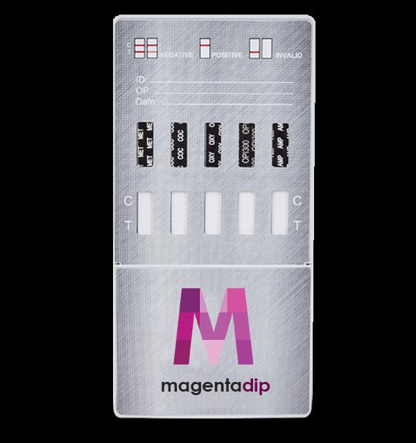 5 Panel urine drug test dip card