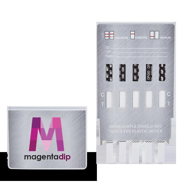 5 Panel drug test dip card open