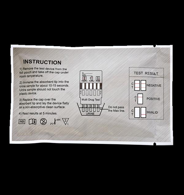 5 Panel drug test dip card instructions