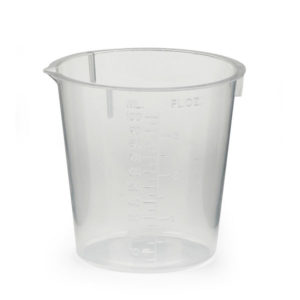 Urine test collection beaker